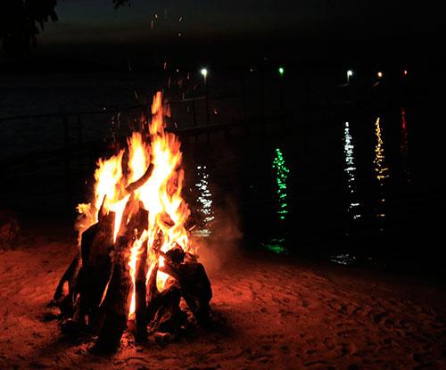 Nightly bonfires