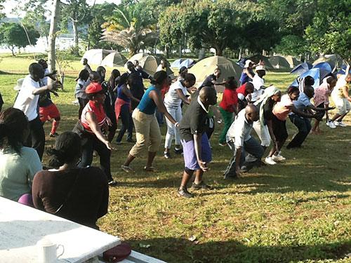 URA staff attend an event at Ssese Islands Hotel